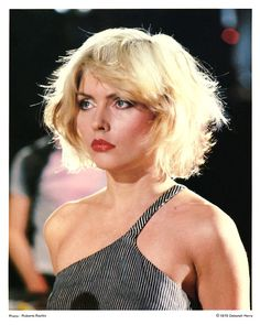 Date: 1979  Details: This photo of Debbie Harry shot during the filming of the Heart of Glass video, was given out to members of the original Official Blondie Fan Club and was taken by Roberta Bayley. http://www.rip-her-to-shreds.com