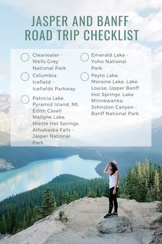 Your complete checklist to the must-see sights in and near Jasper and Banff! Road Trip Checklist, Travel Checklist, Travel Guide, Samana, Alberta Travel, Banff Alberta, Alberta Canada, Banff National Park, National Parks