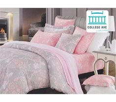 Overcast Pink Twin XL Comforter Set College Ave Designer Series