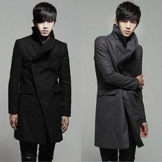 Men Long Trench Coat Men Winter Coat Fashion Casual Designer Men Jacket #MS023