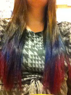 Brown/blue/pink ombré              @twirlsandcurlshd Curls Hair, Curled Hairstyles, Hair Designs, Plaid Scarf, Brown, Hair Styles, Pink, Blue, Beauty