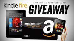 Kindle Fire and $500 Amazon GC Worldwide Giveaway!