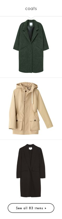 """""""coats"""" by magiehale ❤ liked on Polyvore featuring outerwear, coats, jackets, coats & jackets, long sleeve coat, oversized coat, wool coat, woolen coat, wool lined coat and beige parka"""