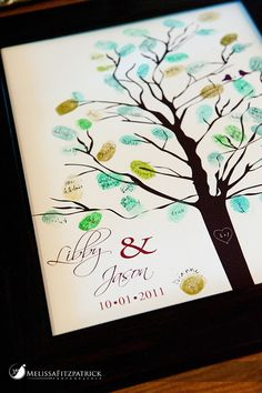 Guest sign in with a thumbprint family tree