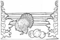 vintage frieze turkey single panel