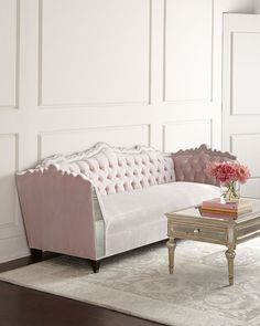 #HauteHouse Santiago Mirrored Sofa - $5,899 #blushcolor