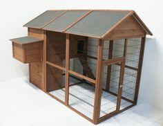 Hønsehus Large m/løbegård - Hønsehuse - Foder og fritid Aps