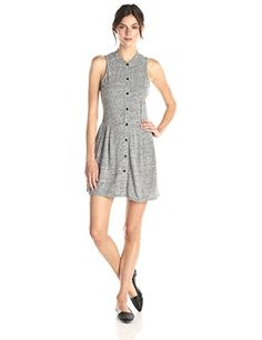 BCBGeneration Women's Button-Up Slim-Shoulder Dress, Heather Grey, Small BCBGeneration http://www.amazon.com/dp/B00V8YCYS8/ref=cm_sw_r_pi_dp_hRBRvb0P7035F