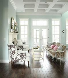 Wall color is Sherwin-Williams' Rainwashed by AislingH