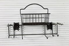 Only $34.99! SCHULTE Garden Rack and Basket Organize your garden tools with a SlatWall from IdealWall. For more information about this Slatwall Accessory visit - https://www.benchsolution.com/product/schulte-garden-rack-and-basket/36/