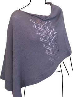Knitting Patterns Poncho Free Knitting Pattern for Voyager Poncho Poncho Knitting Patterns, Shawl Patterns, Knitted Poncho, Knitted Shawls, Knitting Stitches, Knit Scarves, Free Knitting Patterns For Women, Lace Knitting, Swimsuit Pattern