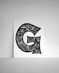 monogram art