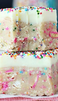 Circus Animal Cookie Dough Truffle Bars