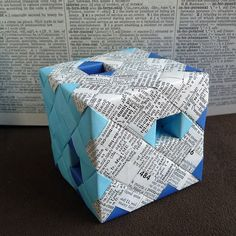 Modular Origami Cube with Tunnels - inspiration but no directions.