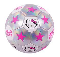Hello Kitty Go! Model 1601 Soccer Ball, Size 3, Silver/Pink //Price: $18.73 & FREE Shipping // World of Hello Kitty https://worldofhellokitty.com/product/hello-kitty-go-model-1601-soccer-ball-size-3-silverpink/    #hellokitty