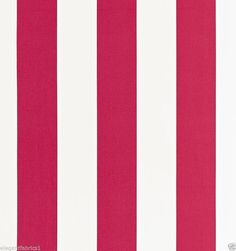 SCHUMACHER CLASSIC MODERN Stripes Fabric 10 Yards Crimson