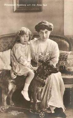 Prinzessin Ingeborg von Schweden mit Sohn Carl