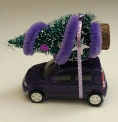 Mini mini panda viola natalizia