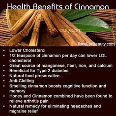 As well as lowering blood sugar levels after eating, cinnamon can slow down the emptying of the stomach