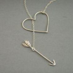 Heart and arrow jewelry! #artfirelink