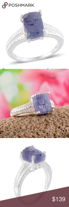 Rough Cut Tanzanite (Cush) Ring in SS. 5.65 Cts. Rough Cut Tanzanite (Cush) Ring in Sterling Silver Nickel Free (Size 7) 5.65 Cts.   Colorful and striking, this cushion-shaped tanzanite ring will add style and elegance to your look. In a setting of sterling silver, this is the total package. This is the perfect selection to embellish the memorable moments in your life. Metal Color White Metal 925 Sterling Silver Gemstone Count 1 Gemstone Minimum Weight(Carats) 5 Total Stone Weight (Carat)…