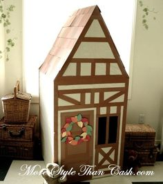 My kids will destroy cardboard/paper in two days. But I like the Tudor style! Possibly for a fabric version.