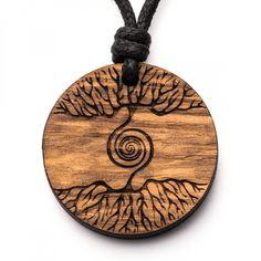 Baum Spirale - 3in1_diy_schmuck Holzschmuck aus Naturholz / Anhänger Washer Necklace, I Shop, Resin, Crafts, Jewelry, Wood, Dressmaking, Diy Jewelry Necklace, Ear Piercings