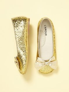L'Amour & Angel GirlsGlitter Flat - cute kid shoe brand