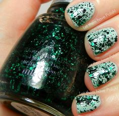 China Glaze - Graffiti Glitter (shown here over China Glaze - Keep Calm, Paint On)