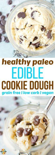 Edible Cookie Dough #paleo #grainfree #lowcarb #vegan #healthy