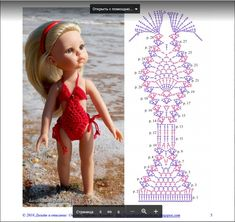 Irresistible Crochet a Doll Ideas. Radiant Crochet a Doll Ideas. Crochet Doll Dress, Crochet Barbie Clothes, Crochet Doll Pattern, Knitted Dolls, Crochet Patterns, Barbie Patterns, Doll Clothes Patterns, Easy Crochet Projects, Doll Tutorial