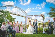 Beautiful fall wedding in Chesapeake City Maryland.