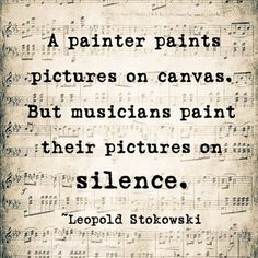 Musicians intend a deeper meaning in their notes