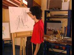 Curso practico de dibujo y pintura-oleo-manchado de planos - YouTube