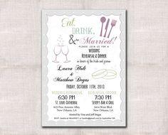 Wedding Rehearsal Dinner invitation custom by DarlinBrandoPress, $15.00
