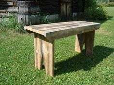 Barn Board Bench I made a bench out of old barn board.    You basically need five pieces. I didn't have wide enough wood so I glued togethe...