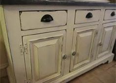chalk paint cabinets distressed hinges painted new hardware
