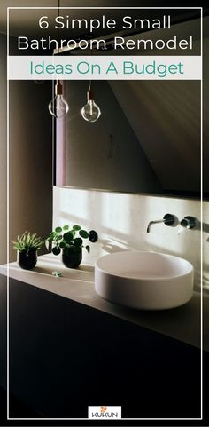 6 Simple Small Bathroom Remodel Ideas On A Budget [Cheap Bathroom Remodeling  Ideas, How