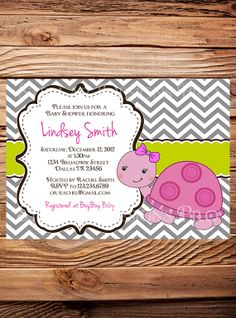 Turtle+Baby+shower+Invitation+Girl+Boy+by+StellarDesignsPro,+$21.00