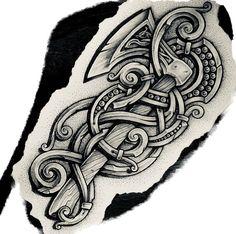Axe Tattoo, Norse Tattoo, Celtic Tattoos, Armor Tattoo, Thai Tattoo, Maori Tattoos, Sketch Tattoo Design, Tattoo Sleeve Designs, Viking Warrior Tattoos