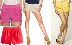 Scalloped shorts! www.merrimentstyle.com