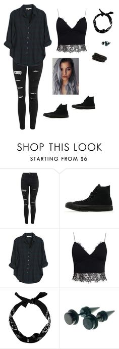 """Untitled #87"" by molliebrigid ❤ liked on Polyvore featuring Topshop, Converse, Xirena, AX Paris, Pieces, women's clothing, women's fashion, women, female and woman"