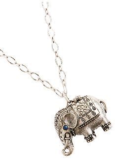 I have a necklace just like this and its one of my favorites. It's a stunning piece that is small but gets compliments every time I wear it. Elephants are amazing animals and they are very hot in fashion right now. Never mix elephant print and jewelry in one outfit, though.