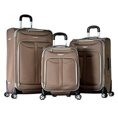 Olympia Tuscany 3 Piece Expandable Spinner Set Champagne One Size >>> This is an Amazon Affiliate link. You can get additional details at the image link.