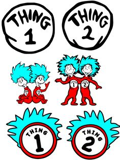 graphic regarding Thing 1 and Thing 2 Printable Circles titled 97 Easiest Factor 1 Issue 2 Celebration shots inside of 2018 Anniversary