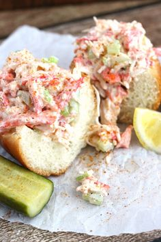 Our Crab Po'boys inspired by New Orleans are a fan favorite. This easy crab salad sandwich can't be beat! Fish Recipes, Seafood Recipes, Cooking Recipes, Healthy Recipes, Recipies, Canned Crab Recipes, Salmon Recipes, Potato Recipes, Cooking Ideas