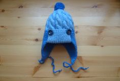Knit Baby - Knitted Cap earflaps with pom pom- ear flap - Of Wool - For Boys - 2-3 months. https://www.etsy.com/ru/listing/217540930/vazanie-dla-detej-vazanaa-apoka-dla?ref=shop_home_active_3&langid_override=0