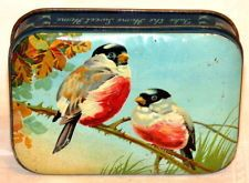 English Blue Bird Robin Candy Toffee Tin 1930s