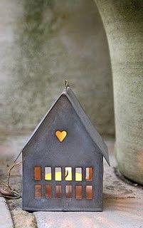 Tin house lantern.