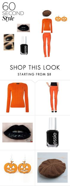 """""""Jack O' Lantern"""" by donna-bender ❤ liked on Polyvore featuring Polo Ralph Lauren, Replay, Essie, NOVICA, Halloween and 60secondstyle"""